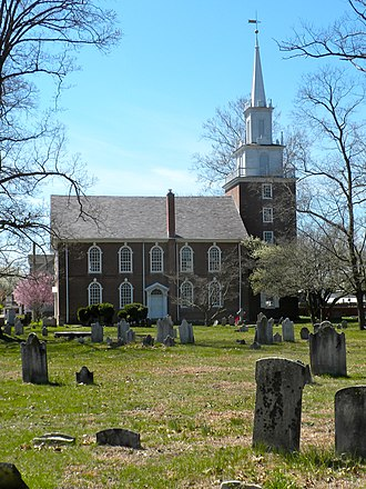 Episcopal Church (United States) - Trinity Church in Swedesboro, New Jersey. Originally serving a Church of Sweden congregation, it became an Episcopal church in 1786, when this building was completed.