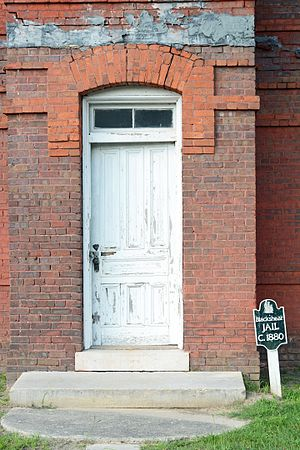 Pierce County Jail - Image: Old jail door, Blackshear, GA, US