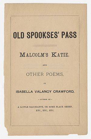 Isabella Valancy Crawford - The original 1884 printing of Crawford's book.