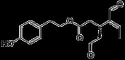 Strukturformel von Oleocanthal
