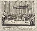 Ondertrouw van Lodewijk XV en Maria Lesczinska De Plegtigheeden van de Ondertrouw door den Ht. van Orleans in de naam van de Koning van Vrankryk Lodewyk de XV, met Princes Maria dogter van Stanislaw, tot Straatsburg, in, RP-P-1907-2128.jpg