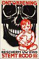 Ontwapening Bescherm uw kind, stemt rood. SDAP.jpg