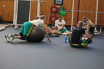 A strength and conditioning session on TuesdayImage: LauraHale.