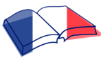 Open book nae French flag.png