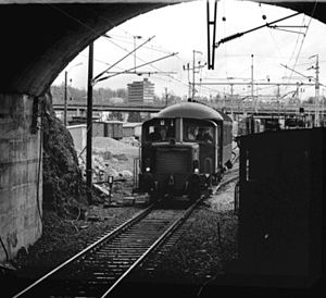 Lieråsen Tunnel - Opening of the tunnel