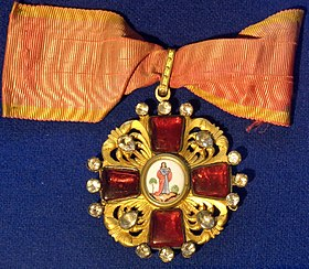 Order of Saint Anna 2nd class badge (Russian Empire 1797-1801) - Tallinn Museum of Orders.jpg