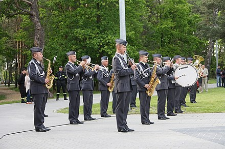 The Representative Band of the Polish Air Force was established in 2002, merging two military bands from Jelenia Gora and Olesnica. Orkiestra Bytom 1.jpg
