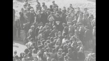 File:Orphans of Buchenwald Ex-Prisoners Coming Home Air Views HQ and Camps (1945).webm
