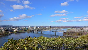 Outline of Ontario - Image: Ottawa river from Parliament Hill