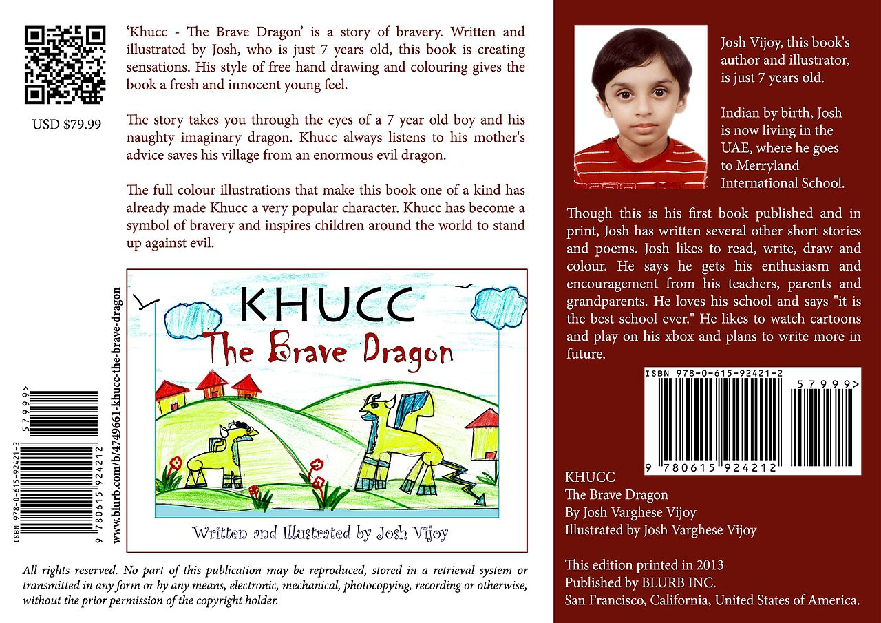 File:Outer Cover of KHUCC - The Brave Dragon by Josh Vijoy jpg