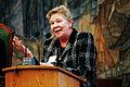 Outi Ojala (vanst), talar under Nordiska radets session i Kopenhamn 2006.jpg