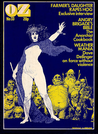Underground comix - OZ London, No.33, February 1971; art by Norman Lindsay
