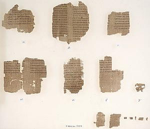 Chester Beatty Papyri - Fragments of P. Chester Beatty VI showing portions of Deuteronomy