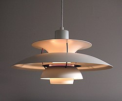 Poul Henningsen PH Lamp 1927 Pendant Whereby The Light Was Emitted Indirectly