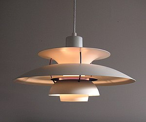 Architectural lighting design - The PH5 lamp, designed in 1958