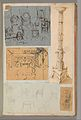 Page from a Scrapbook containing Drawings and Several Prints of Architecture, Interiors, Furniture and Other Objects MET DP372142.jpg