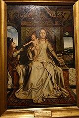 A Virgem Maria, o Menino Jesus e um Anjo