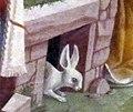 Palazzo schifanoia, salone dei mesi, 04 aprile (f. del cossa), trionfo di venere 02 coniglio.jpg