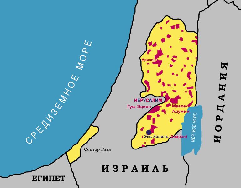 Palestina poselenia evreev