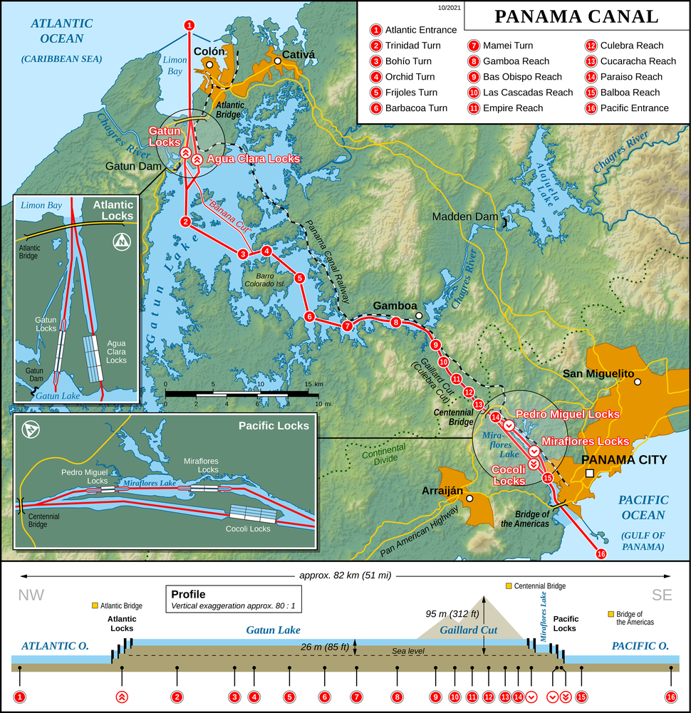 Panama Canal Map EN