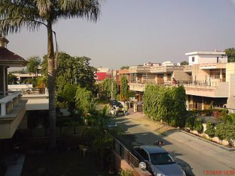 Panchkula - A street in Sector 17