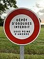 Panneau Dépôt Ordures Interdit Route Mâcon St Cyr Menthon 2.jpg