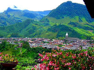 Jardín - Image: Panorámica Jardín Antioquia