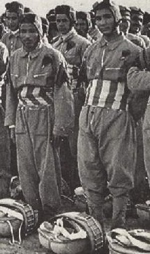 Royal Corps of Colonial Troops - Libyan paratroopers of the 1 Libyan Division Sibelle