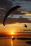 Paragliding at sunset over Parque da Cidade, Niterói, RJ, Brazil.jpg