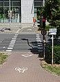 Pardubice, Palackého třída, přejezd pro cyklisty u Atria (01).jpg