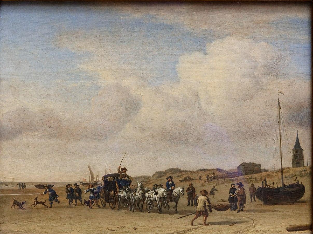 Carriage on the Beach at Scheveningen