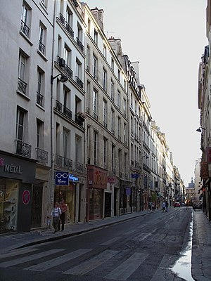 Rue de Richelieu - Rue de Richelieu, looking towards the Louvre