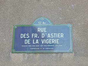 Rue des Frères d'Astier de La Vigerie — WikiGenWeb