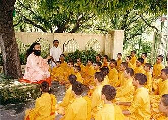 Gurukula - Guru teaching students in a gurukula