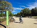 Parque Jardín de la Ciudadela, paso de ciclistas.jpg