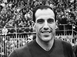 Pascutti at San Siro (now Stadium Giuseppe Meazza) in Milan in the early 1960s