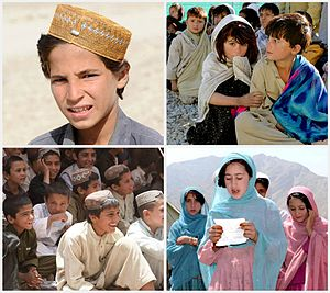 Pashtunistan - Pashtun children, indigenous to the Pashtunistan region