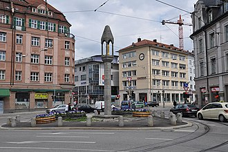Pasinger Marienplatz - Pasinger Marienplatz before the last transformation