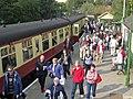 Passengers alighting at Pickering Station - geograph.org.uk - 2607305.jpg