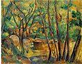 Paul Cezanne Meule et citerne en sous bois.jpg