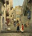 Paul Gustave Fischer - Neapolitan Street Scene - Неаполитанская уличная сцена.jpg