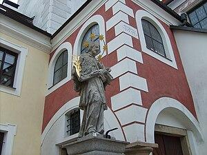 Pelhřimov - The sculpture of St. John of Nepomuk