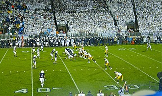 2009 Penn State Nittany Lions football team - Iowa's offense lines up against the Penn State defense
