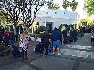 Tesla Model 3 - About 125 people in line to reserve a Tesla Model 3 in Walnut Creek, California.