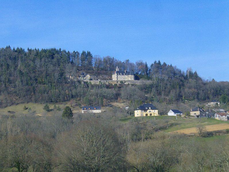 Vue du château de Perpezac-le-Blanc