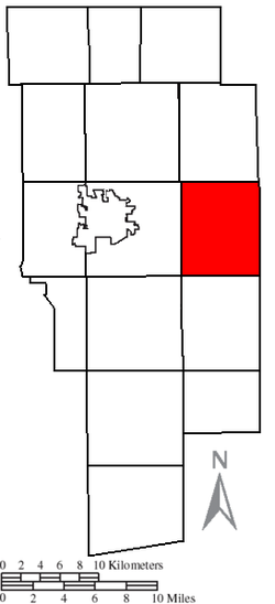 Location of Perry Township in Ashland County