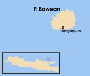 Bawean - Location of Bawean – north of Java island