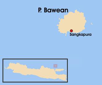 Bawean - Location of Bawean – north of Java island