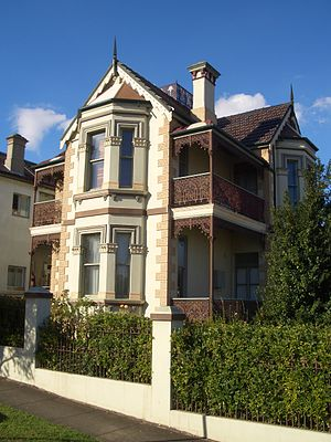 Stanmore, New South Wales - John Gowing's home Lyndhurst Middleton Street, Stanmore
