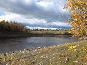 Petitot River - Petitot River looking toward the Liard River